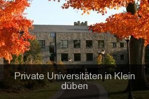 Private Universitäten in Klein düben