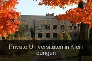 Private Universitäten in Klein düngen